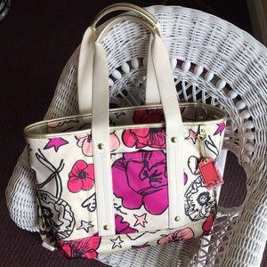 Floral print Coach purse